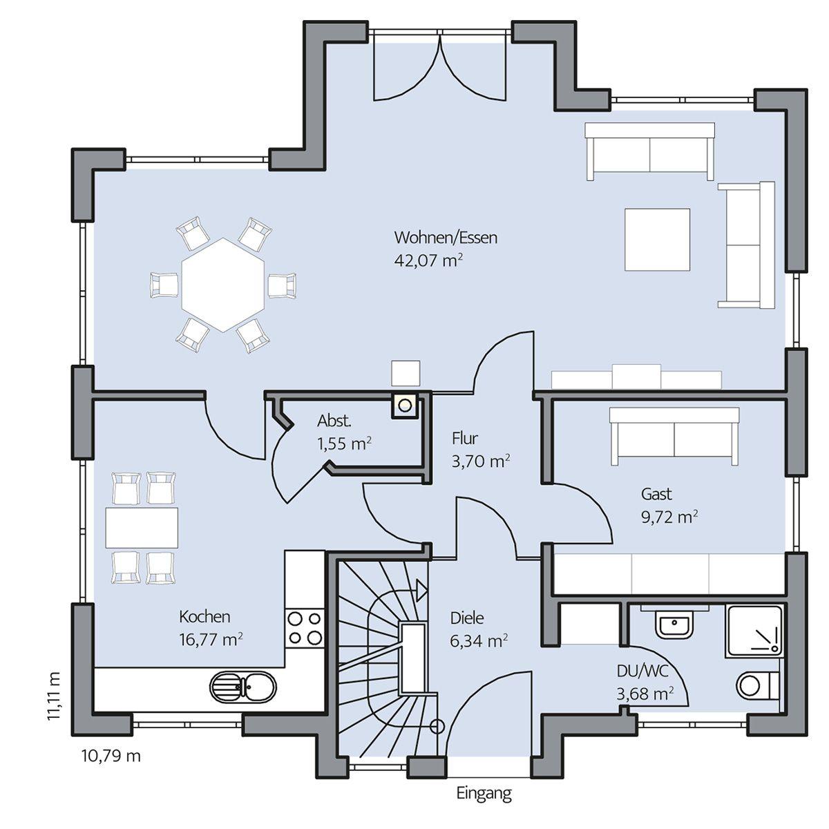 haus oswald erdgeschoss planos pinterest haus haus grundriss y haus bauen. Black Bedroom Furniture Sets. Home Design Ideas