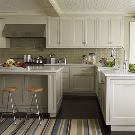 plain white melamine kitchen goes coastal shaker frame doors - Kitchen Cabinets Frames