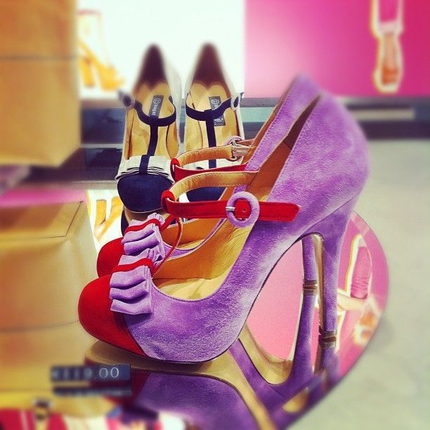 Shoes in Milan, love the colors and style