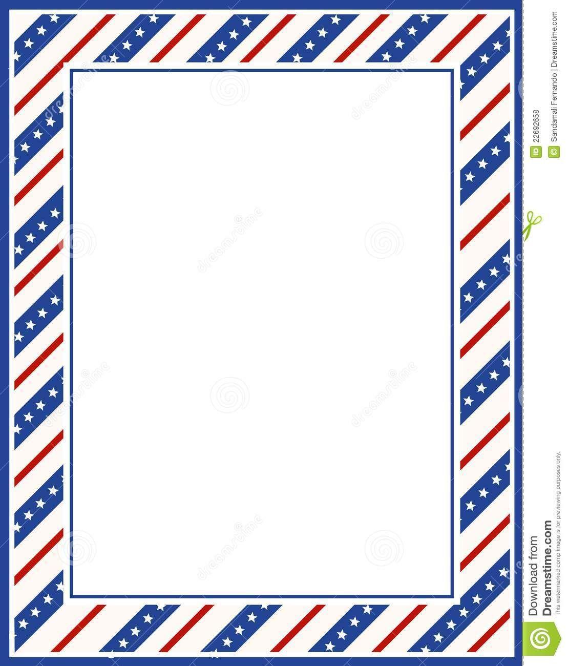 Free Patriotic Page Borders   Patriotic border   PATRIOTISM, THE ...