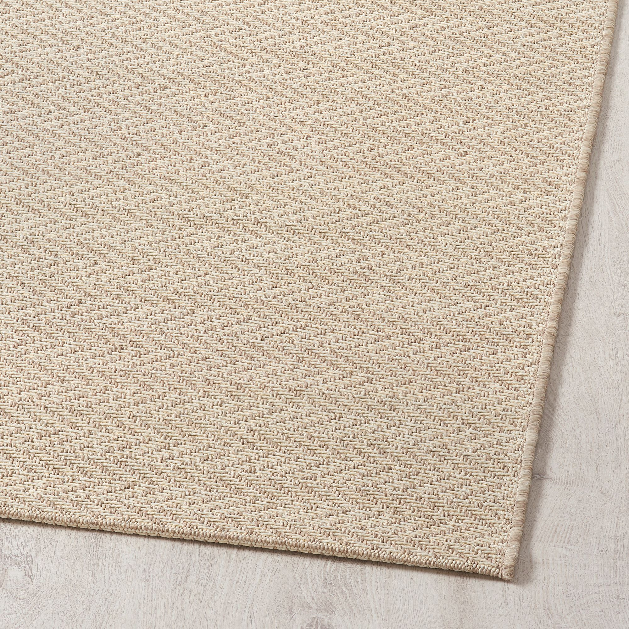 Ikea Ovtrup Rug Flatwoven In Outdoor Light Brown Off White Tapis Tisse Plat Tapis Tisse Tapis