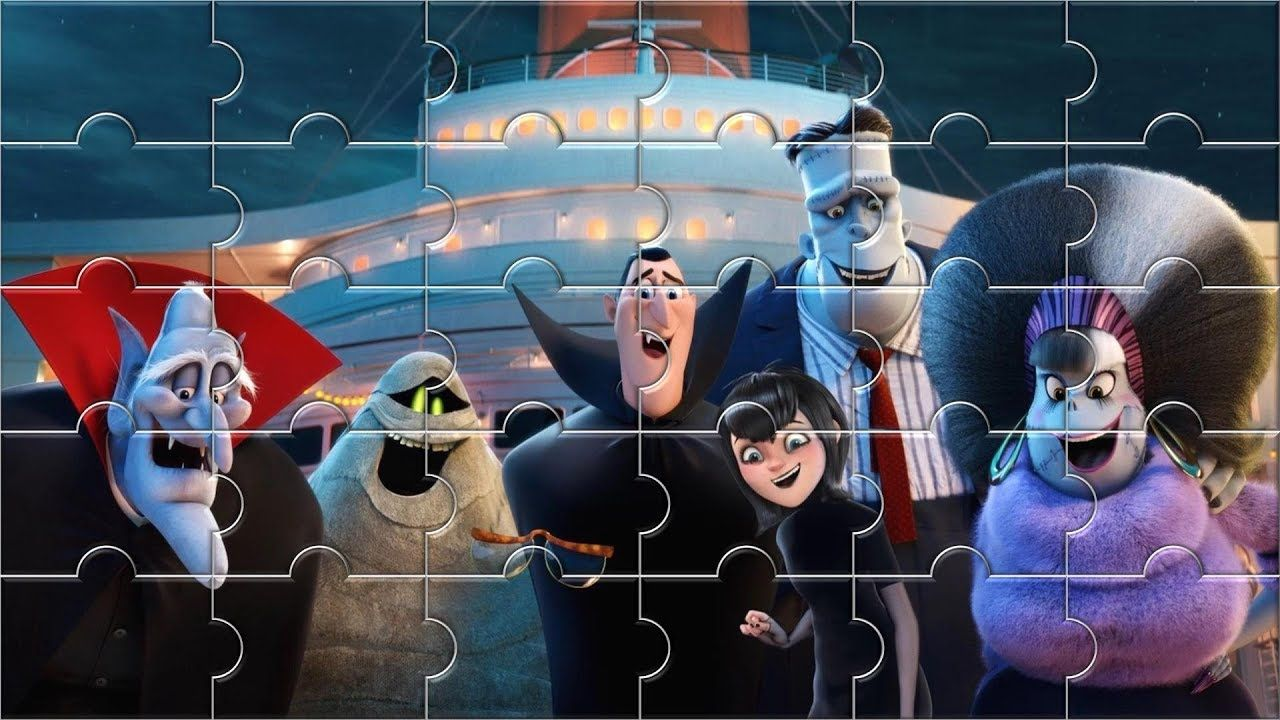 Hotel Transylvania 3 Jigsaw Puzzle game for Kids - Kids Puzzle video ...