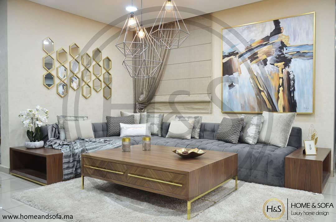 L Image Contient Peut Etre Table Et Interieur Deco Salon Marocain Salon Marocain Design Decoration Salon Marocain