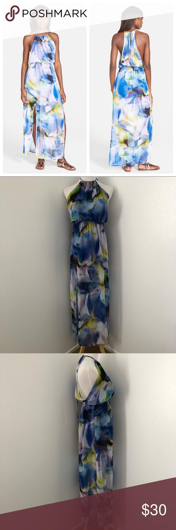Nordstrom Leith Watercolor Maxi Dress M Clothes Design Leith Dress Fashion [ 1740 x 580 Pixel ]