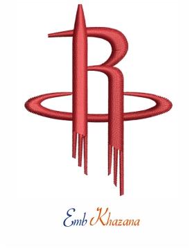 Houston Rockets Logo Embroidery Design Rockets Logo Houston Rockets Rocket Cake