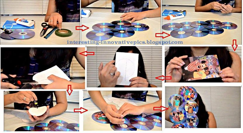 Diy creative photo frames out of waste old cds for Creative ideas from waste things