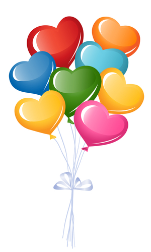Colorful Heart Balloons   Hearts ♥ L♥ve   Balloons, Heart ...
