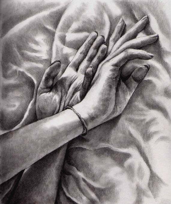 Sketch of hands by KatePowellArt.deviantart.com