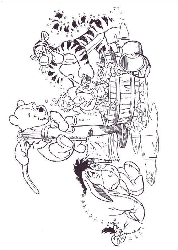 Winnie the Pooh Eeyore Tigger Piglet Bath Coloring pages ...