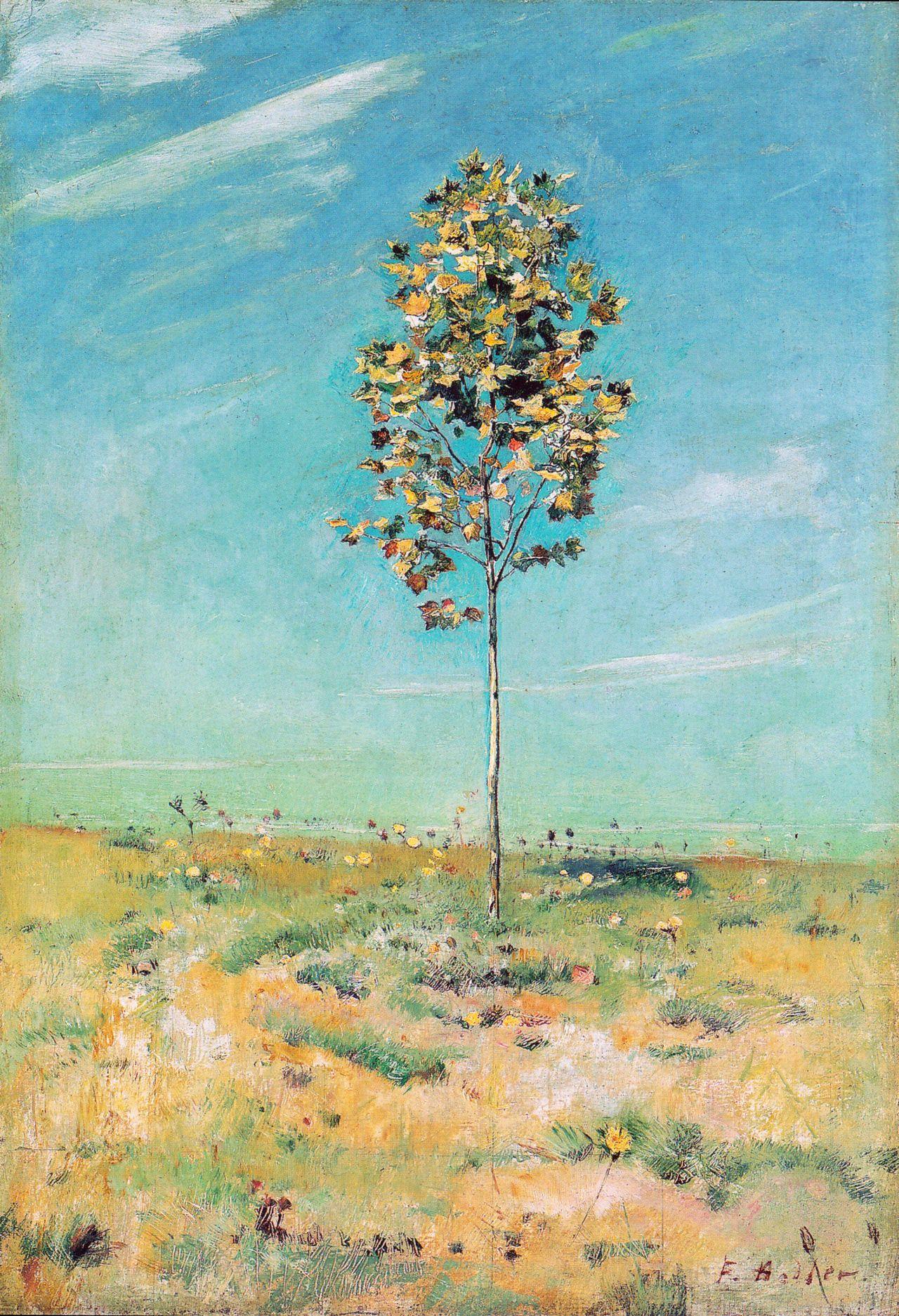 Ferdinand Hodler - The small plantane (1890)      Ferdinand Hodler - The small plantane (1890)