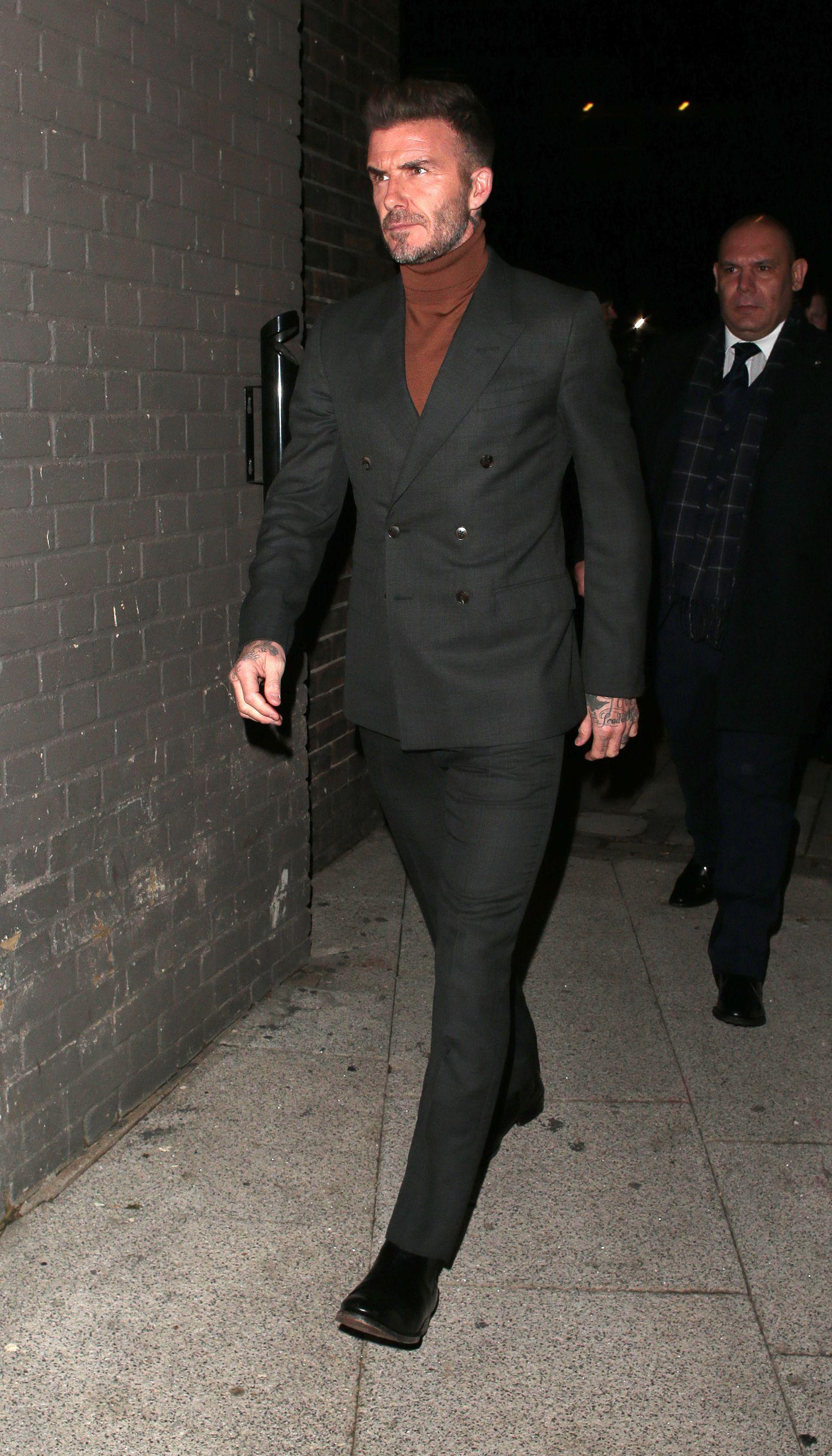 Super carino selezionare per lo spazio caratteristiche eccezionali David Beckham conferma: la cravatta è fuori moda   David's ...