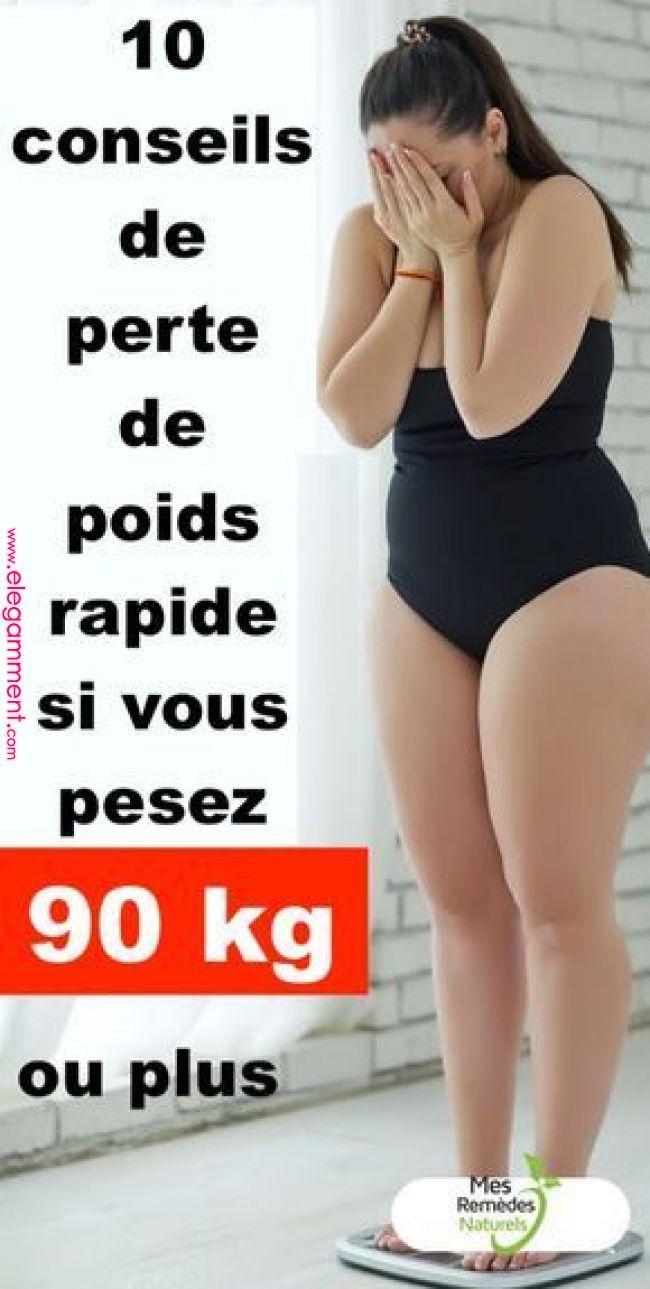 10 conseils rapides pour perdre du poids si vous pesez 90 kg ou plus