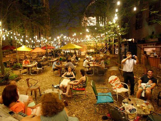 Welcome additions to Philadelphia in 2013 | Beer garden, Gardens and on college bar design, silent auction design, long bar design, soda fountain design, beer grotto, jazz lounge design, temporary structure design, cocktail bar design,