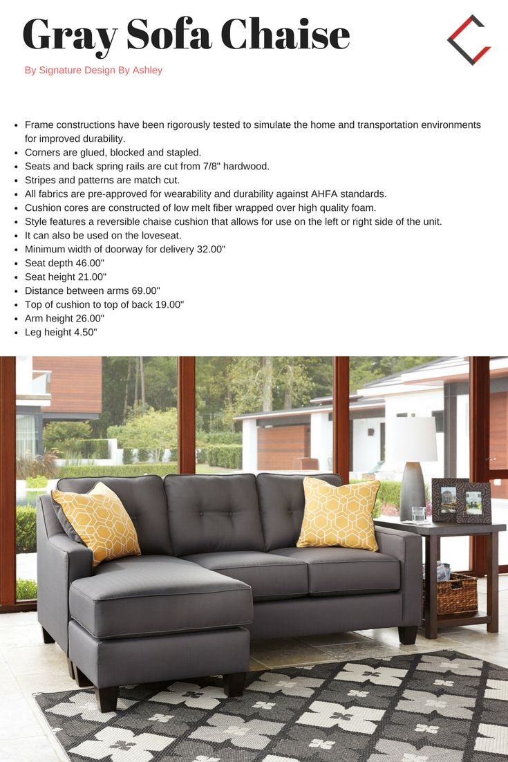 Peachy Ashley Furniture Aldie Nuvella Gray Sofa Chaise The Classy Gmtry Best Dining Table And Chair Ideas Images Gmtryco