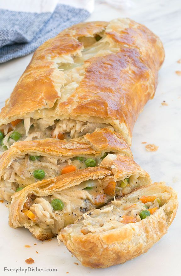 Chicken Pot Pie Stromboli Recipe