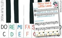 Mary Had A Little Lamb Easy Piano Music - Let's Play Music