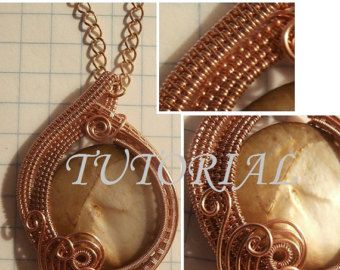 Wire wrapped tree of life pendant copper with aqua marine unique wire wrap tutorial wire wrapped pendant majestic mother of pearl wire weaved jewelry pattern how to make wire jewelry aloadofball Choice Image