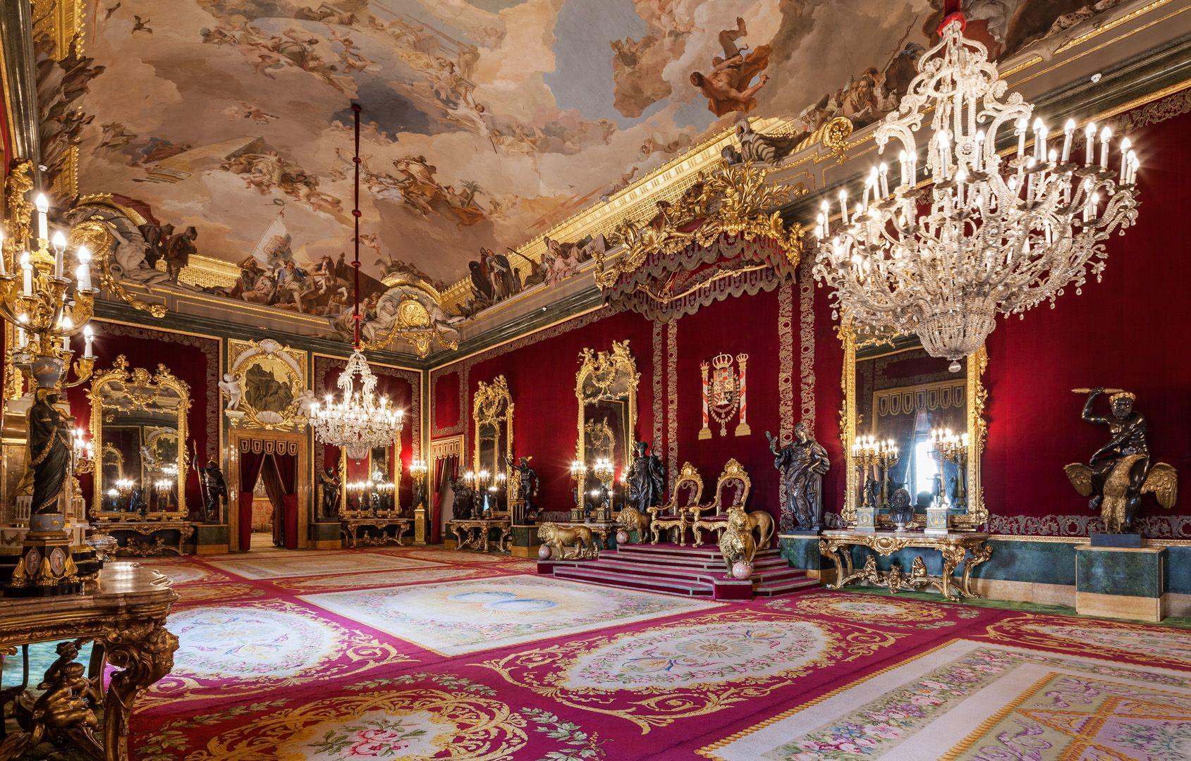 Palacio Real de Madrid. Salón del trono (con imágenes) | Salón del ...