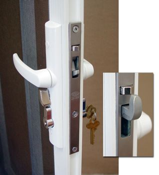 Tasman security screen door locking handle #PCAproducts