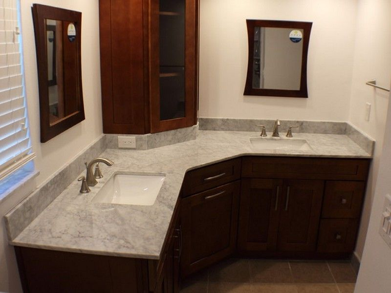 Bathroom Vanities Design Ideas Impressive L Shaped Bathroom Vanity Design  Bathroom  Pinterest  Bathroom Decorating Design