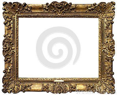 Old Baroque Gold Frame Baroque Frames Antique Picture Frames Victorian Picture Frames
