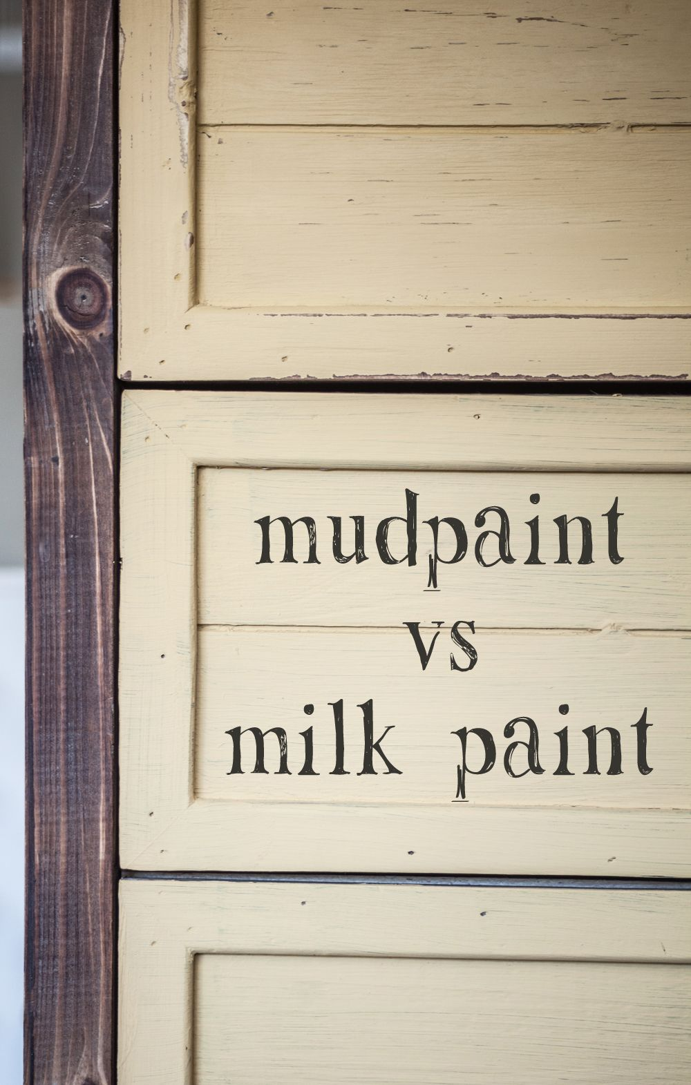 MudPaint VS Milk Paint   Milk paint, Milk paint recipes ...