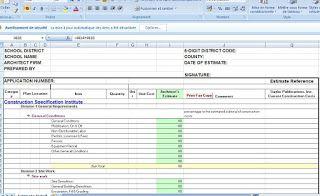 construction cost estimate template excel civil engineering