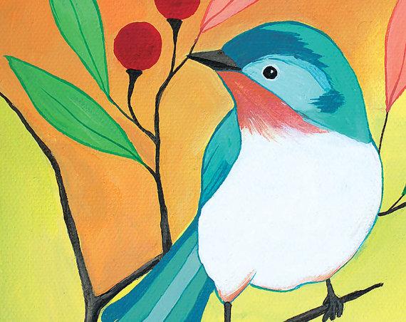 Printable Kids Art Printable Bird Art Bird Nursery Decor