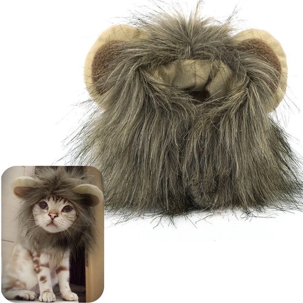 MEWTOGO Lion Mane Wig Funny Cat Kitty Little Puppy Costume