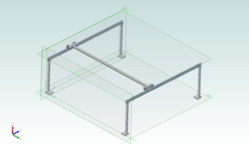 Diy gantry crane garage workshop pinterest welding for Shop hoist plans