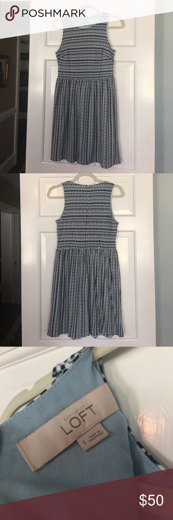 LOFT Dress in Baby Blue Size Small Loft dress, Dresses