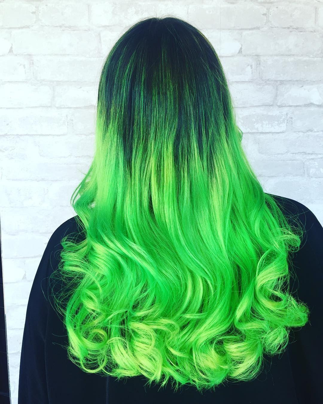 30 Fresh Green Hair Ideas Mint Lime Emerald Pastel Dark Green Hair Colors Green Hair Ombre Hair Color