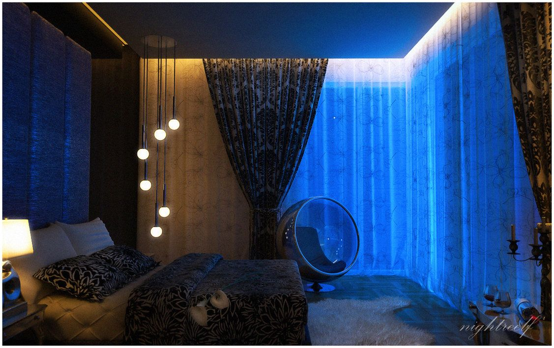 Dark Blue And Black Bedroom master bedroom red and dark blue | gloomy and dark master bedrooms