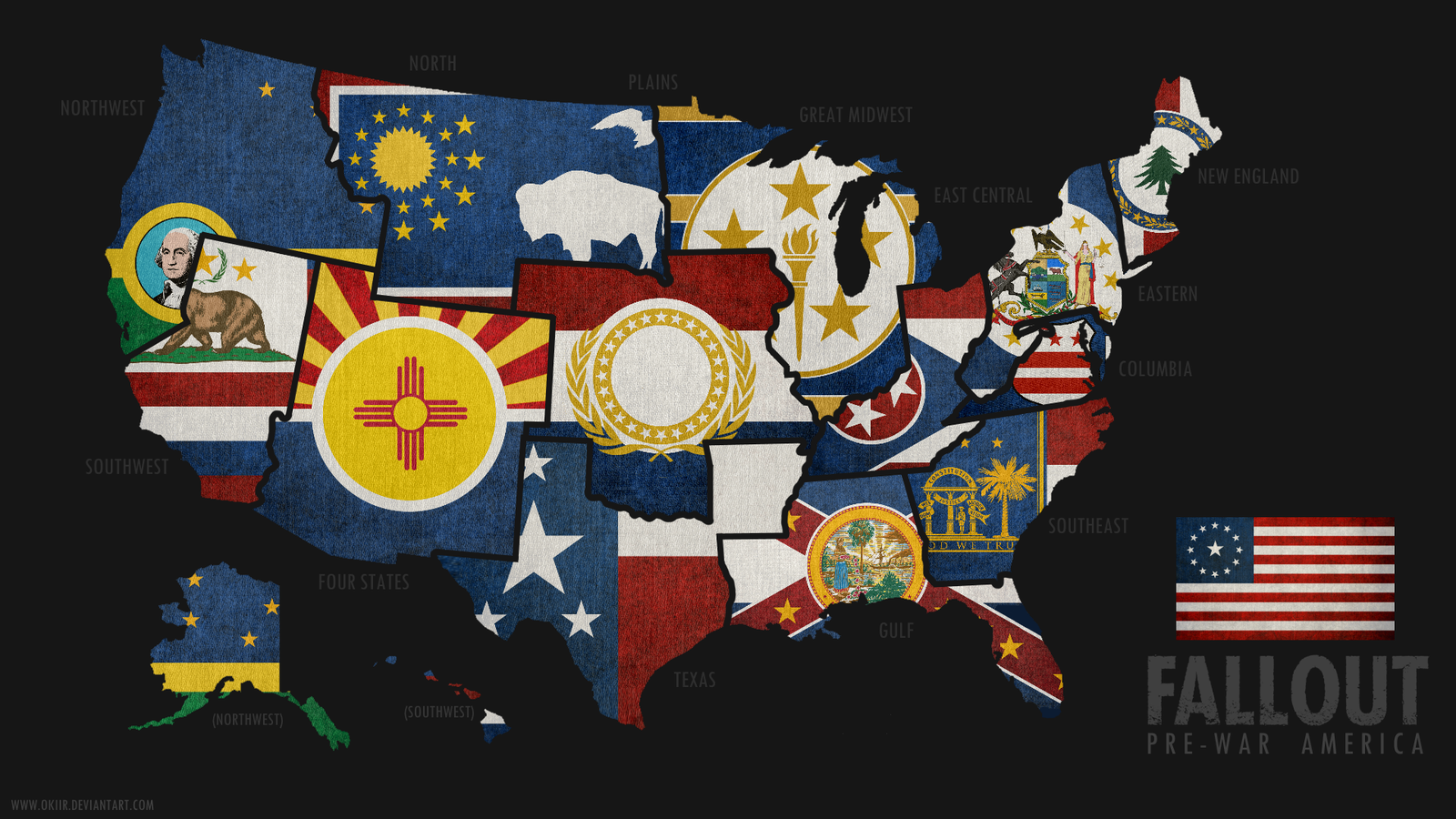 FALLOUT Map Of PreWar America By Okiir And Now For Something - Fallout game map of us