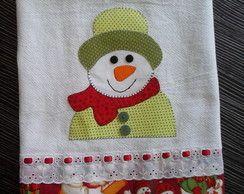 Pano de prato de natal boneco de neve