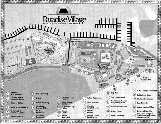 resort map of paradise village in neuvo vallarta puerto vallarta mexico