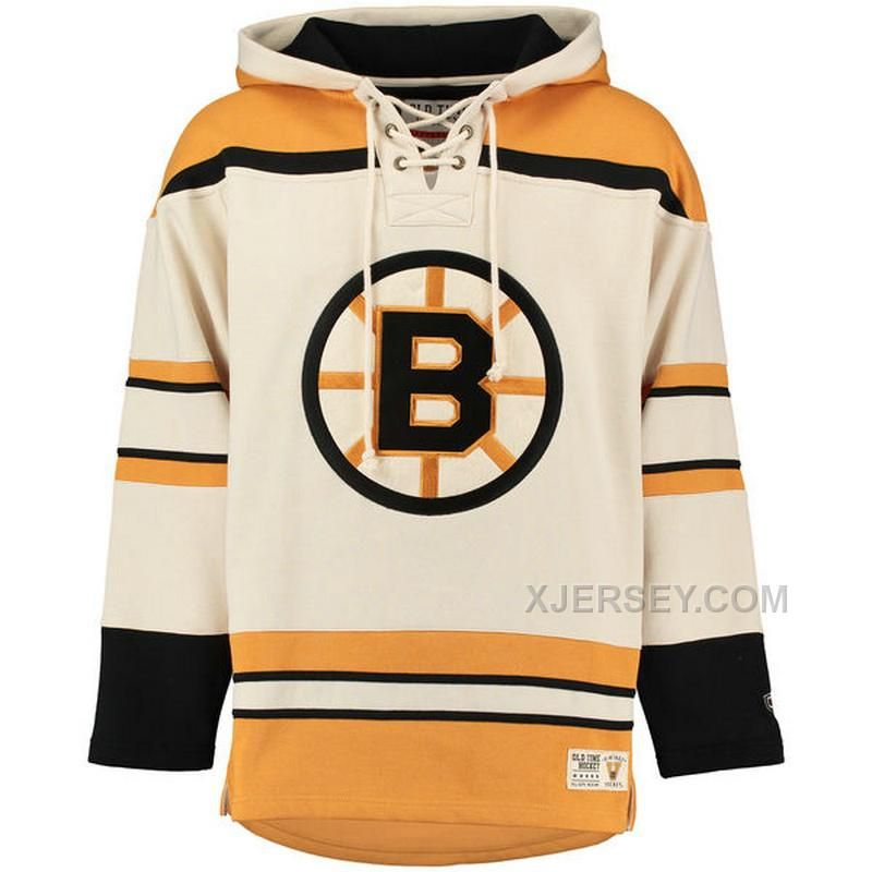 e5039e627 Old Time Hockey Boston Bruins Black Gold Lacer Heavyweight Pullover Hoodie