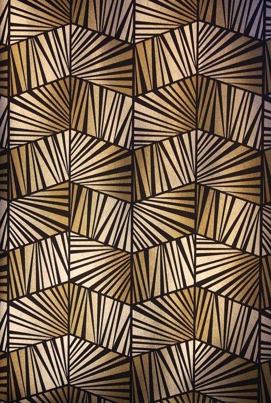 Berkeley Wallpaper A semi reflective Art Deco style