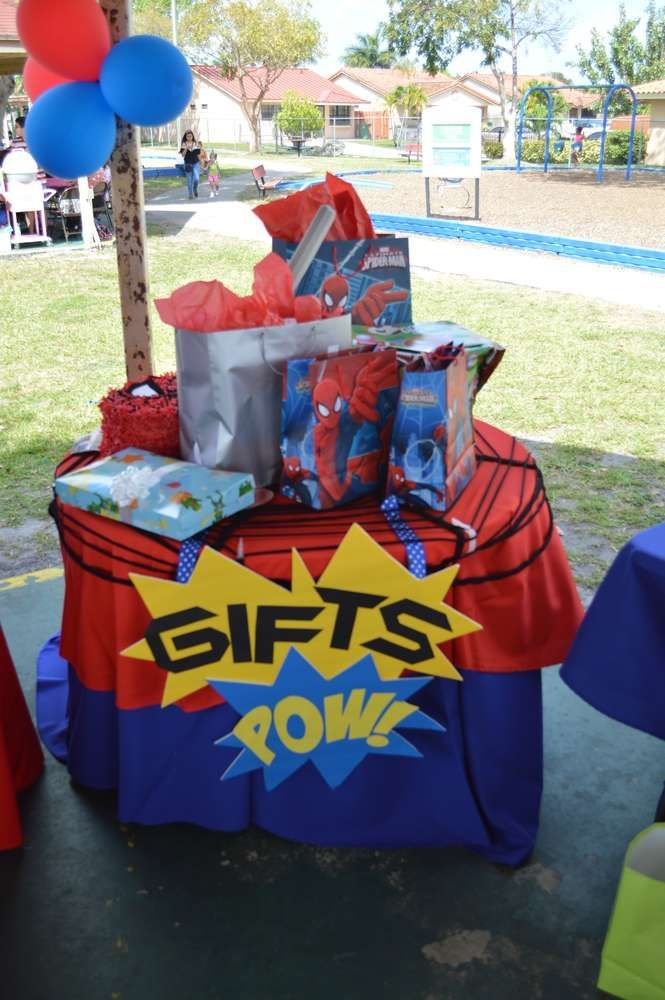 Spiderman Birthday Party Ideas | Photo 2 of 6 | Catch My Party - Visit to grab an amazing super hero shirt now on sale!