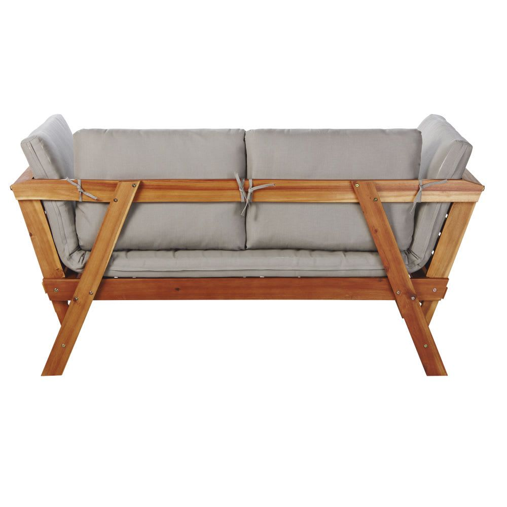Marvelous 3 Seater Acacia Wood Modular Garden Bench Seat Maisons Du Gmtry Best Dining Table And Chair Ideas Images Gmtryco