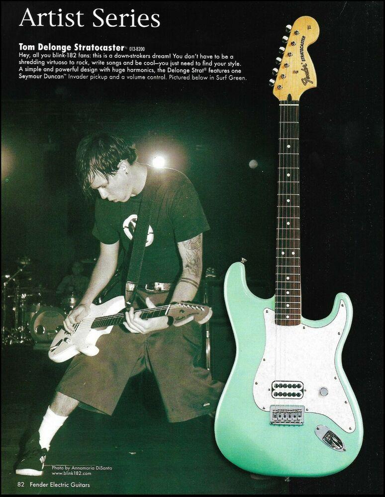 Blink 182 Tom Delonge Fender Stratocaster Muddy Waters