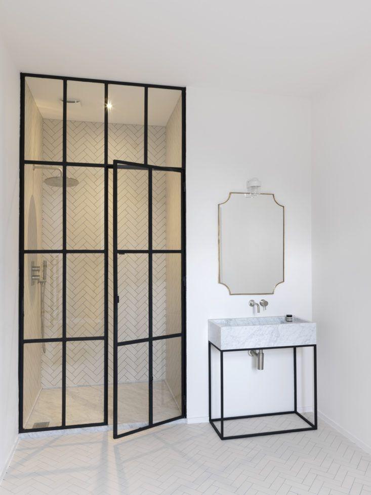 Bathroom of the week steel frame shower doors in a for Luxus shower doors