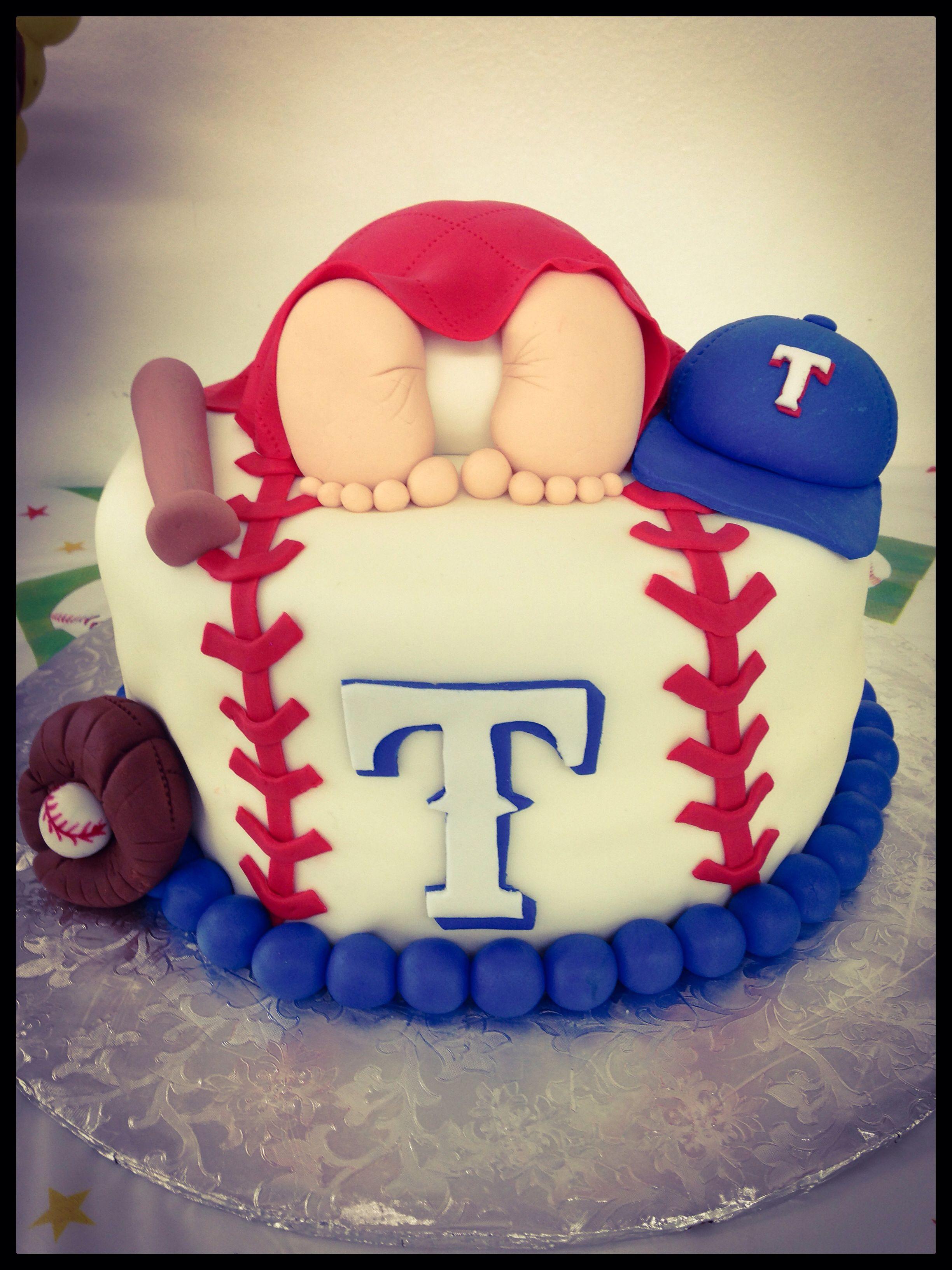 Texas Rangers Cake Baby shower Pinterest