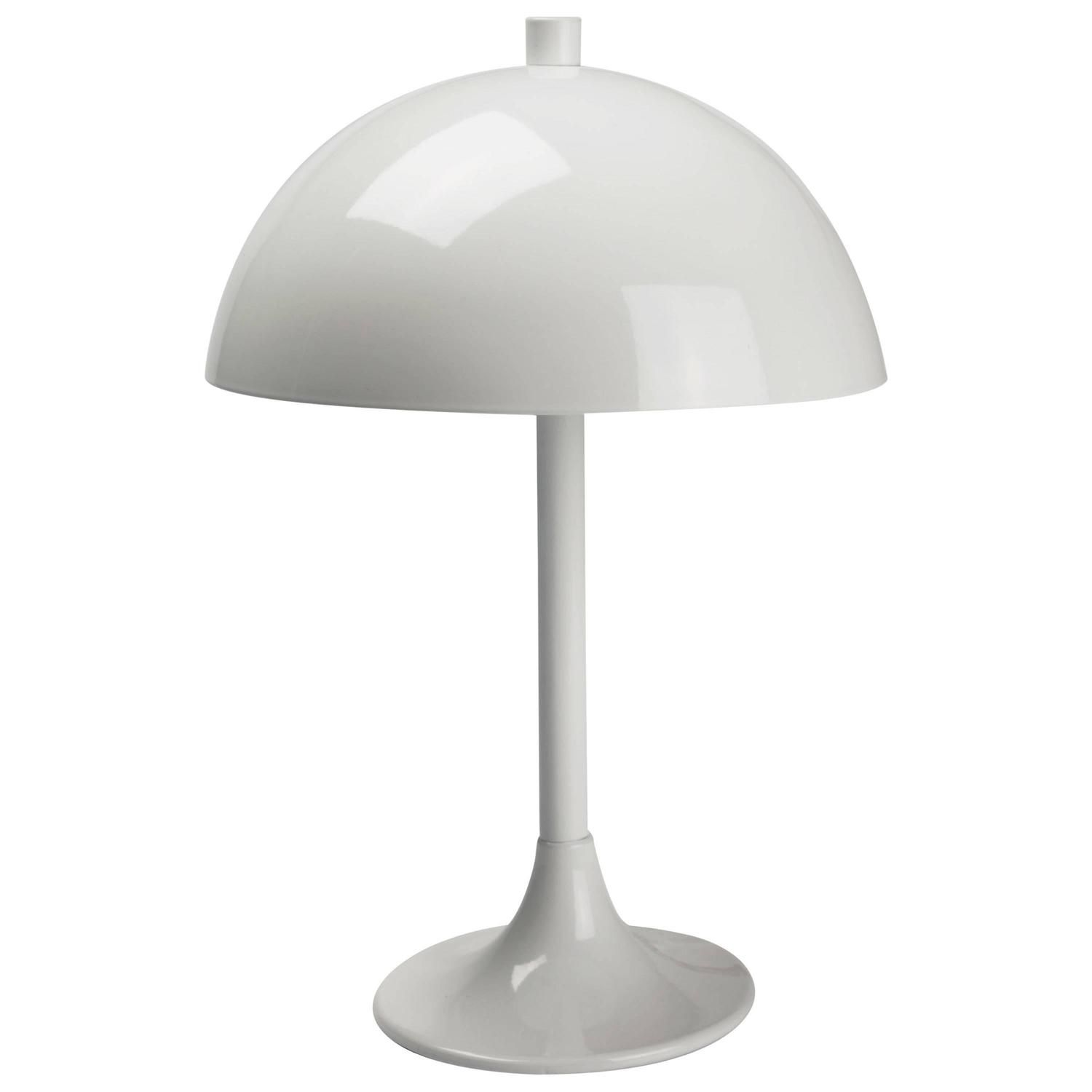 Vintage French Minimal White Mushroom Lamp in Metal by Editions – Tulip Desk Lamp