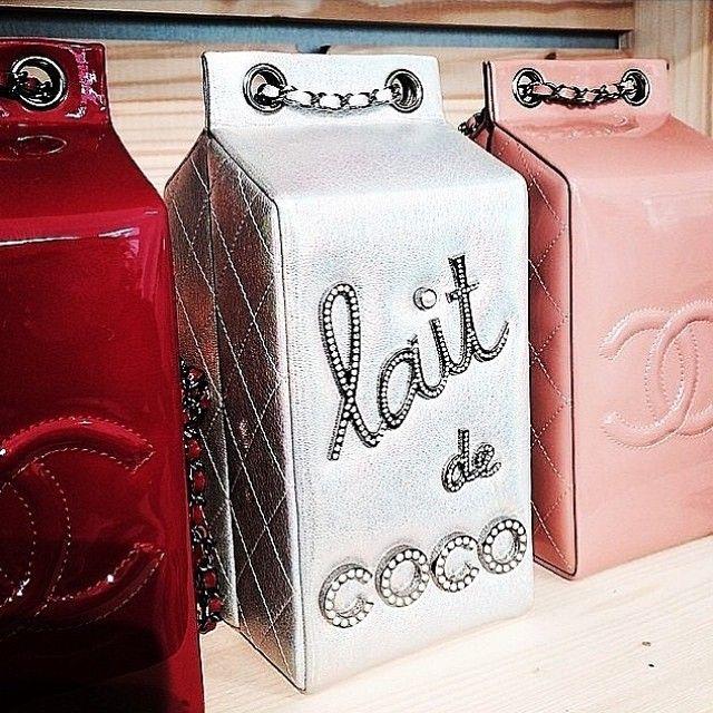 ee46d132a1 Chanel milk carton handbags. | Collecting Lucite, New & Fun Purses ...