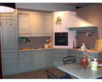 Cucina Mostra: Belvedere Rovere Azzurro Antico Ha le ante di colore ...