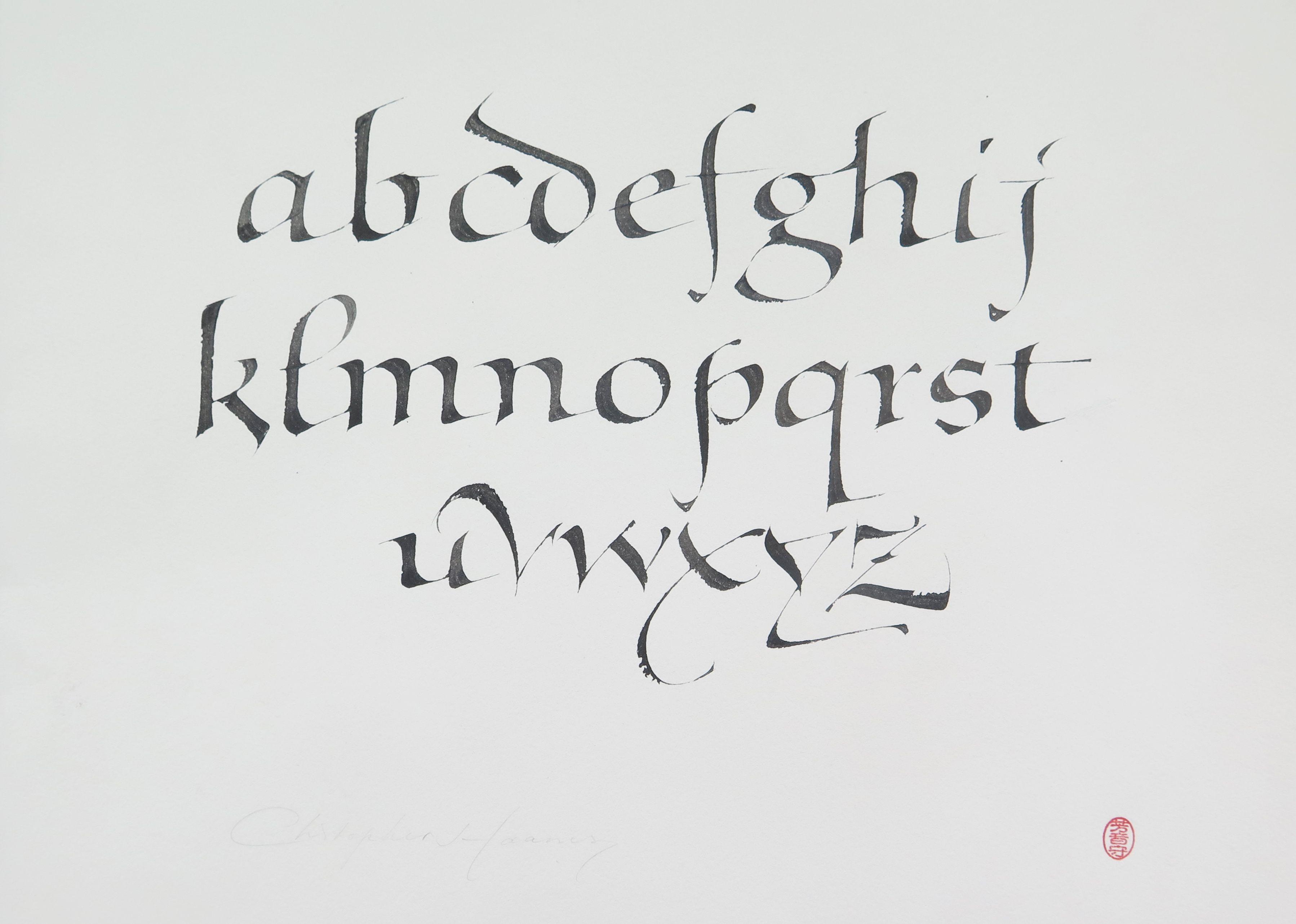 Civilite Alphabet Demo