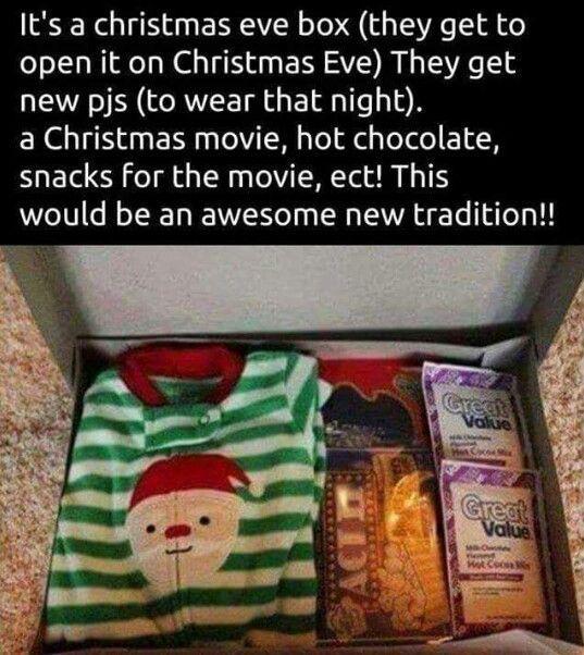 Christmas eve box for kids http//wwwgiftideascorner/christmas