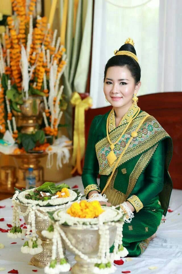 Lao Wedding Traditional Lao Weddingclothing Pinterest Laos
