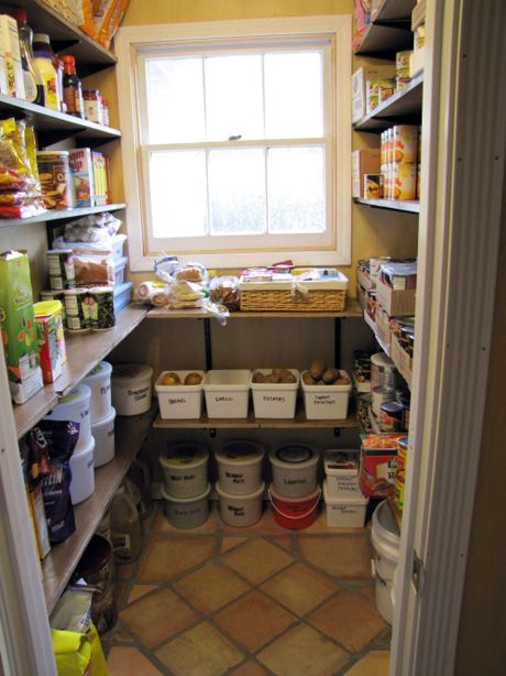 This Pantry Has A Window Like The Area I D Like To Make Into A Pantry This Holds A Lot Of Food Pantry Laundry Room Pantry Design Large Families Living
